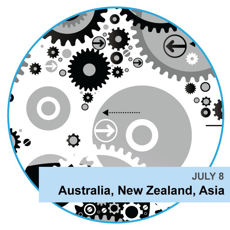 July 8, Australia, New Zealand, Asia